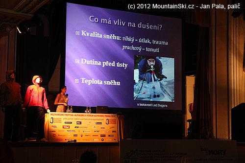 Kristina Höschlová uvedla výsledků výzkumu kdýchání pod sněhem od Ladislava Siegera