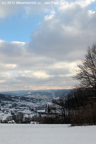Údolí Vsetínské Bečvy se Vsetínem