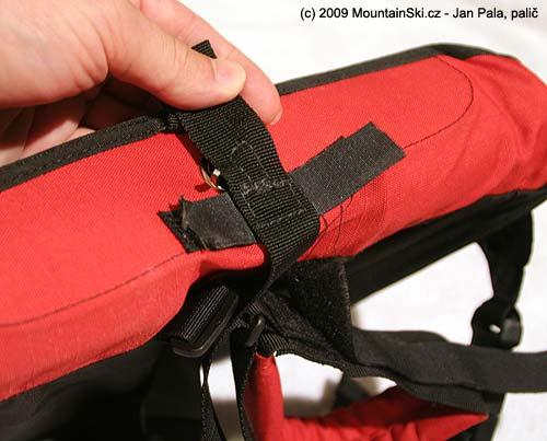 Velcro fixing of hook
