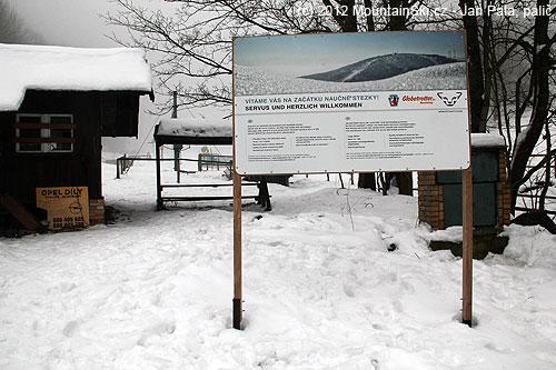 Začátek skialpinistické naučné stezky