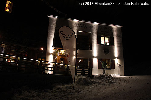 We have reached the hut in the dark – it is easy due to snow leopard from Dynafit