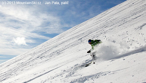 Gabo in powder snow up to…