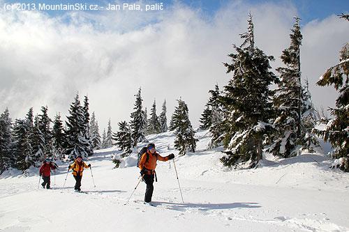 Dostáváme se nad hranicí lesa vpořadí– Višňové, Višňové, Valašsko