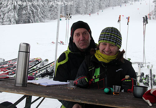 Martin Růžička and Kateřina Manestarová organized testing of skis ELAN