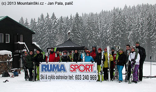 There stayed only part of the participants of the testing in the ski resort Ski Park Gruň in the late afternoon