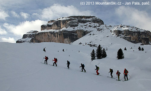 Atypical winter landscape in the Dolomites