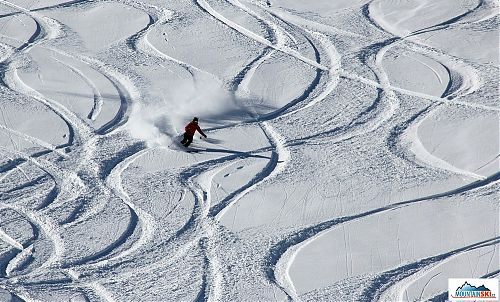 Traces are little over each other... but these crossing are made by local skiers