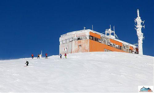 Sjezd přímo z vrcholu Bjelašnicy - od meteostanice