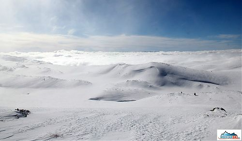 The main ridge of Jahorina with some fog