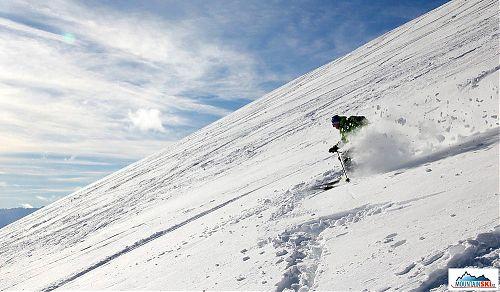 Powder snow in the Dolomites