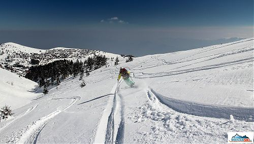 Skiing at Popova Šapka