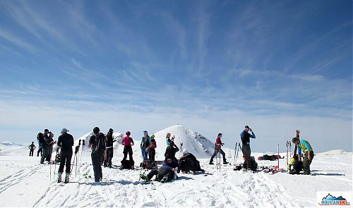 On the summit - Titov vrv is in the background