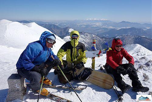 Naše skupina na vrcholu Chlebu