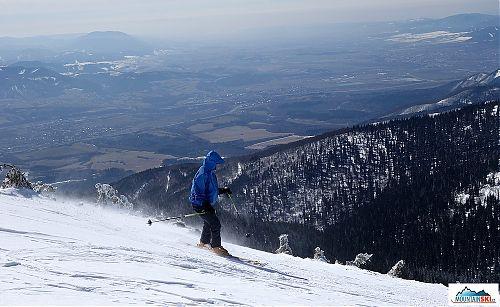 Sjezd z Chlebu do Šútova na lyžích...
