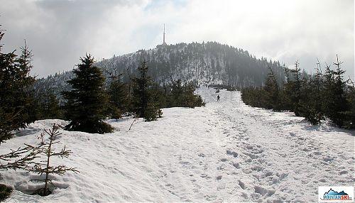 Už nám zbývá jen závěrečný výšvih na vrchol Lysé Hory