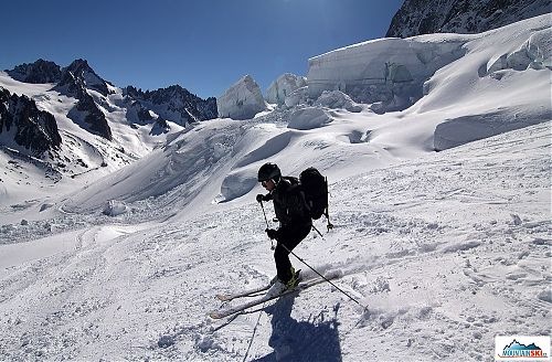 Petr Š. - The glacier Argentiére, the attemp not to mainly fall on my mask