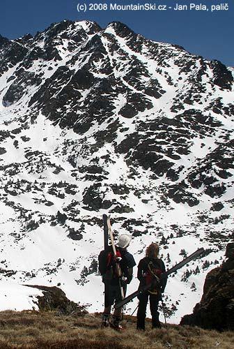 Velmi vyoseně umístěné lyže, Andorra vdubnu 2008