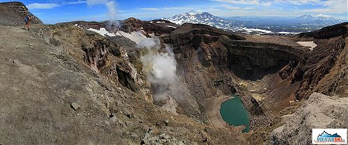 Crater of volcano Gorelyj