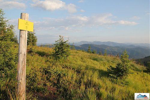 Bývalý trojhraniční vrchol Stoh - 1630 m