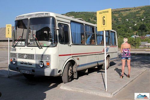 Tímto busem jsme se přesunuli z Rachova do Jasini