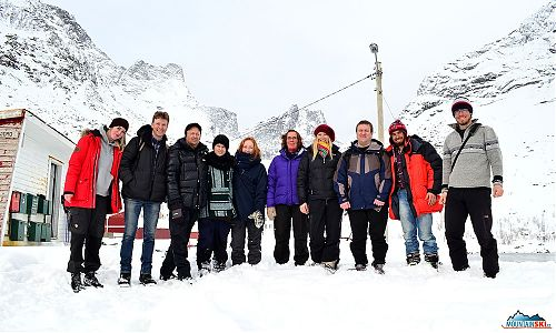 Our group from left: Ida-Mari, Hollvar, Robert, ?, ?, Liv, our Vanda, Bjorn and part of Kejda Ski Team