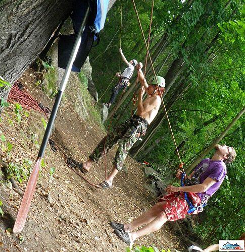 Opřít pádlo o strom a vzlínat, foto: Markéta Syllová