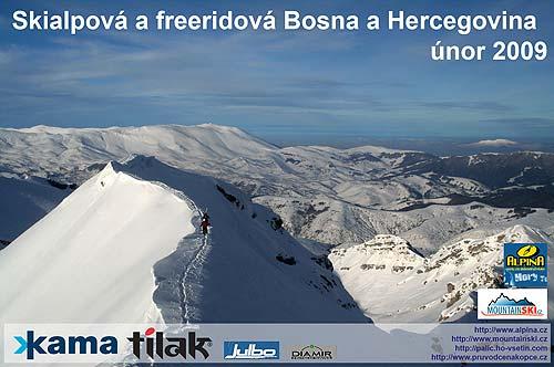 Úvodní stránka promítání oKAMA SNOW CAMP 2009Bosna a Hercegovina