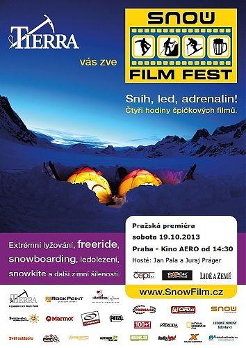 Pozvánka na zahájení Snow Film Festu 2013 v Praze