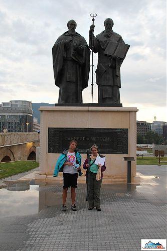 Cyril a Metoděj + Iva a Zuzka - centrum Skopje