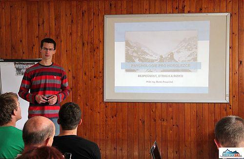 Martin Pospíchal uvedl svůj projekt zaměřený na psychologii pro horolezce