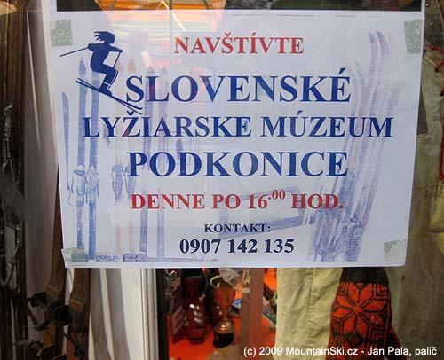 Pozvánka do Slovenského lyžiarského múzea Podkonice