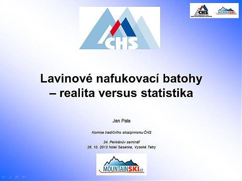 Úvod do statistiky použití lavinových batohů