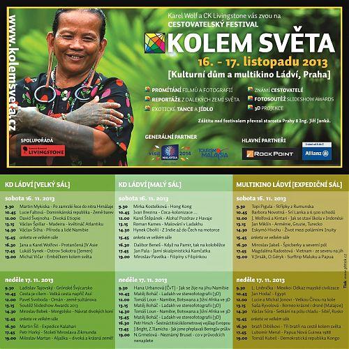 Program Festivalu Kolem světa Praha 16.-17. 11. 2013