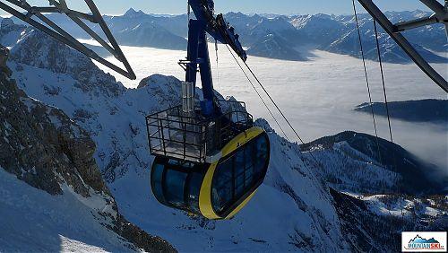 Nová gondola míří na ledovec Dachstein