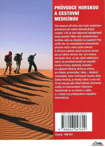 Poslední strana obálky knihy Průvodce cestovní a horskou medicínou