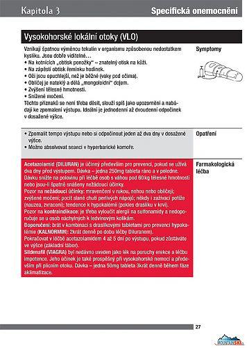 Strana 27 - Průvodce cestovní a horskou medicínou, text s červeným podkladem je určen pouze pro lékaře