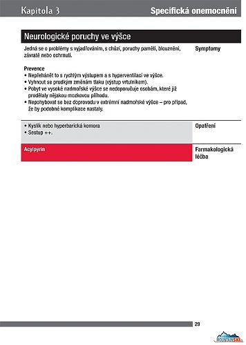 Strana 29 - Průvodce cestovní a horskou medicínou, text s červeným podkladem je určen pouze pro lékaře