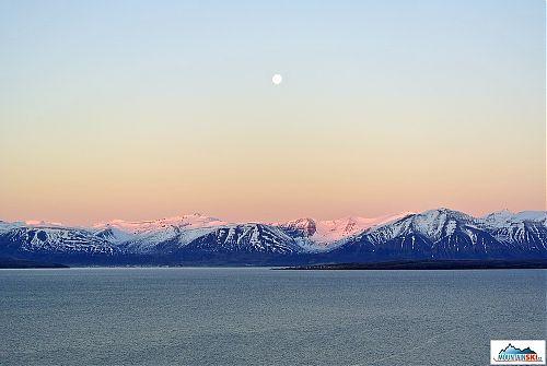 Východ slunce nad Dalvíkem