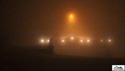 Nasvětlený hotel Štumpovka v osm hodin večer v pátek 29. listopadu