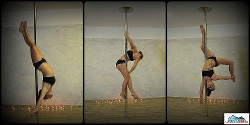 Pole dance - malé protažení a důvěra v sebe sama při visu hlavou dolů