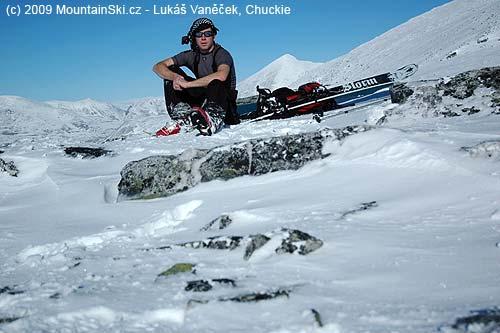 Jeden zmých mnoha sólo výletů na skialpech