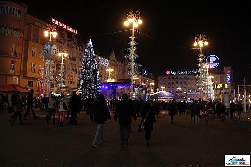 Advent u Zagrebu - hlavní náměstí
