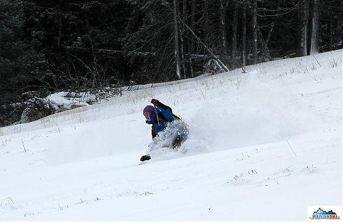 První skialpový den této sezóny a spousta prašanu, co víc si přát?