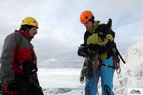 Jediná lezecká dvojice, která zůstala až do konce memoriálu - Ropák s Markétou