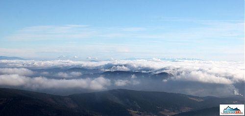 Západní a Vysoké Tatry z Lysé hory