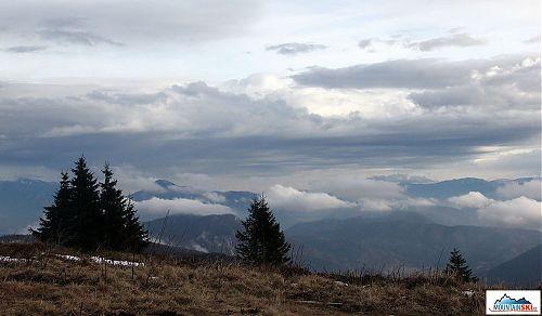 Z chaty na vrchol Chlebu byly fantastické výhledy