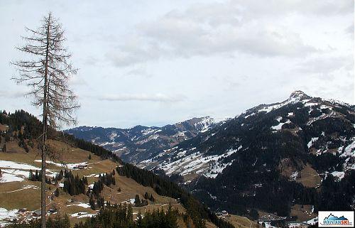 Leden 2014 v údolí kolem Grossarlu, smutný nesněhový pohled