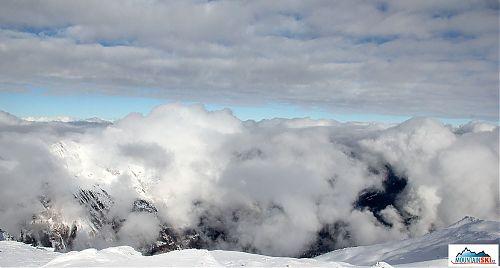 Takto si umí hrát mraky nad dolinou Gastein