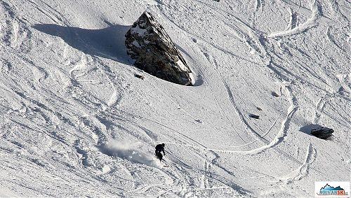 I když bylo ve Sportgasteinu méně sněhu, než bývá v lednu zvykem, kdo chtěl, ten prášil