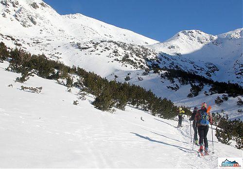 První výšlap na skialpech